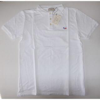メゾンキツネ(MAISON KITSUNE')のmaison kitsune キツネ trico ポロシャツ white XL(ポロシャツ)