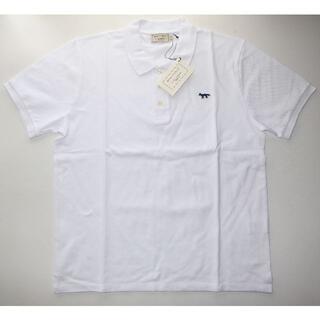 メゾンキツネ(MAISON KITSUNE')のmaison kitsune キツネ NAVY FOX ポロシャツ wt XL(ポロシャツ)