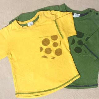 ハッカベビー(hakka baby)の【hakka baby】七分袖カットソー/90cm/色違い2着セット(Tシャツ/カットソー)