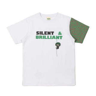 LAUNDRY - laundry ランドリー 泥棒×犬 唐草模様 ホワイト Tシャツ Lサイズ
