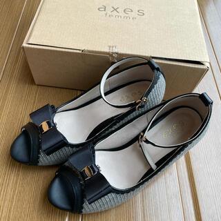 アクシーズファム(axes femme)のaxes femme 【1.2回使用】サンダル リボン(サンダル)