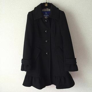 バーバリー(BURBERRY)の美品♡バーバリーブルーレーベル裾フリルコート(ロングコート)