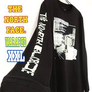 ザノースフェイス(THE NORTH FACE)の結構ビッグサイズ♪ 新品 ノースフェイス ワープ ロンT 黒 アームロゴ XXL(Tシャツ/カットソー(七分/長袖))