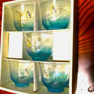 トウヨウササキガラス(東洋佐々木ガラス)の和風玻璃器 切子冷茶揃(グラス/カップ)