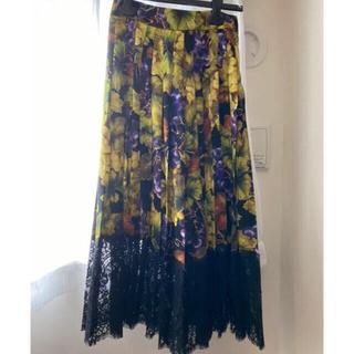 ドルチェアンドガッバーナ(DOLCE&GABBANA)のドルガバ   スカート  38  シルク ワンピース(ロングワンピース/マキシワンピース)