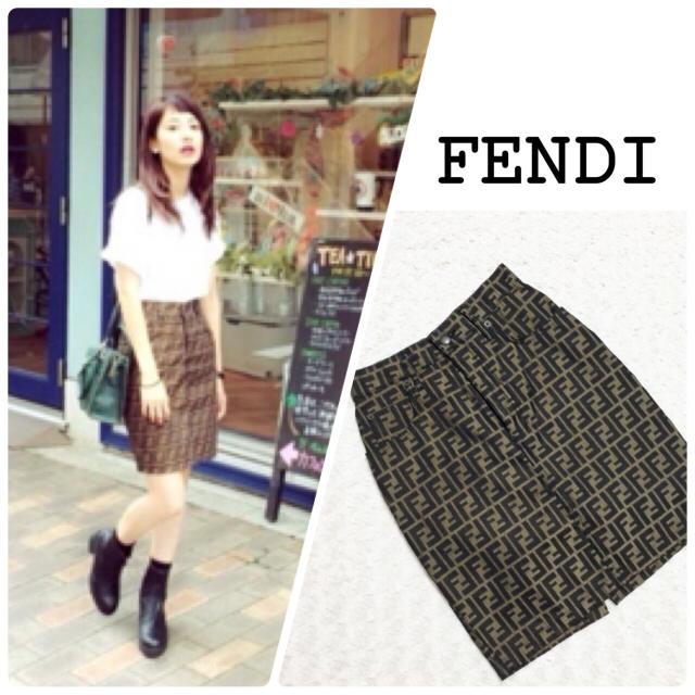 FENDI ズッカ柄スカート
