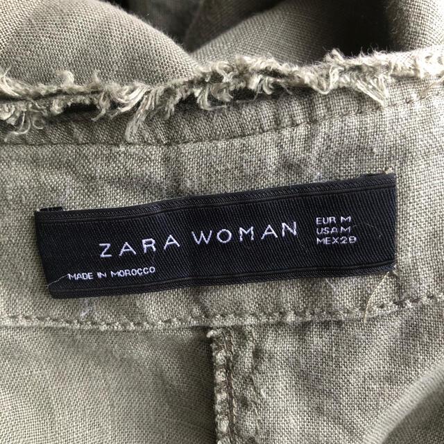 ZARA(ザラ)の完売*ZARA*リネンノーカラーロングコート レディースのジャケット/アウター(ロングコート)の商品写真