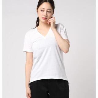 サイズ1!AURALEEシームレスVネックカットソー オーラリー白 半袖Tシャツ(Tシャツ(半袖/袖なし))