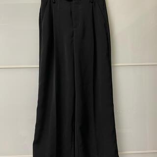 ジーユー(GU)の新品 ジーユー ワイドパンツ ブラック Sサイズ(バギーパンツ)