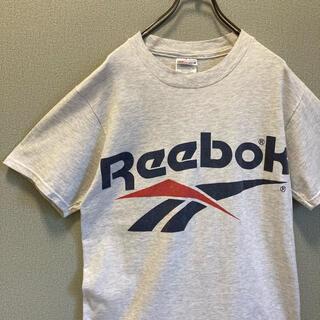 リーボック(Reebok)の90s Reebok ビックロゴ グレー tシャツ ゆるだぼ  vintage(Tシャツ(半袖/袖なし))