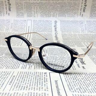 トムブラウン(THOM BROWNE)のトムブラウン TB-011 メガネ 眼鏡 ブラック ゴールド サングラス(サングラス/メガネ)