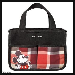 ディズニー(Disney)のsweet ブルーレーベル 付録 ミッキーマウスデザインインテリアバッグ(リビング収納)
