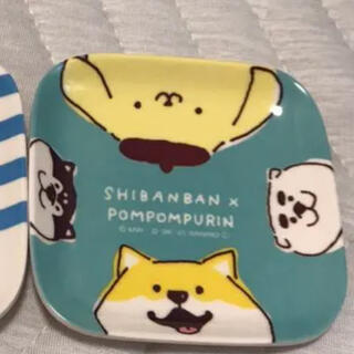 ポムポムプリン(ポムポムプリン)の【ポムポムプリン✖︎しばんばん】メラミン小皿 サンリオキャラクターズ(食器)
