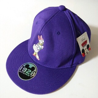 ディズニー(Disney)の未使用 DISNEY ディズニー デイジーダック スナップバックキャップ 紫(キャップ)