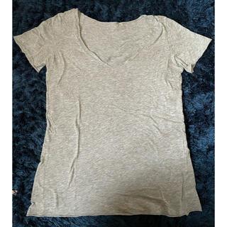 デュラス(DURAS)のDURAS グレー Tシャツ カットソー(Tシャツ(半袖/袖なし))
