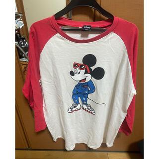ディズニー(Disney)のラグランディズニー カニエ 7部丈(Tシャツ/カットソー(七分/長袖))