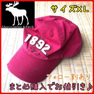 アバクロンビーアンドフィッチ(Abercrombie&Fitch)のアバクロンビーフィッチ メンズ 帽子 キャップ アクセサリー 赤 XL(キャップ)