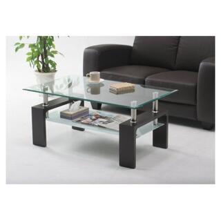 新品 収納棚付きガラス天板センターテーブル 選べる3カラー 即購入歓迎(ローテーブル)