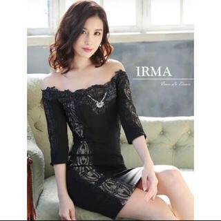 エンジェルアール(AngelR)のキャバドレス IRMA イルマ ナイトドレス ブラック(ナイトドレス)
