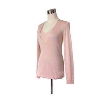 ESCADA - パリコレ 最高級ライン 煌めきの桜ピンクしっとり柔らかサマーニット