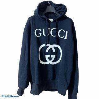 グッチ(Gucci)の美品 GUCCI インターロッキング パーカー Mサイズ(パーカー)