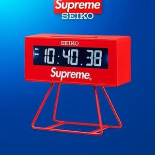 シュプリーム(Supreme)のSupreme Seiko Marathon Clock Red 国内 正規品(置時計)
