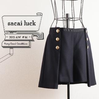 sacai luck - 極美品 サカイ sacai luck # M ウール ワイド キュロット パンツ