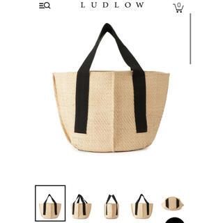 LUDLOW - ❣️新品❣️raffia square tote M LUDLOW カゴバッグ