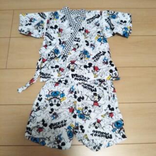 ディズニー(Disney)のかわいい!ミッキー柄 甚平 95センチ キッズ 浴衣 ディズニー(甚平/浴衣)