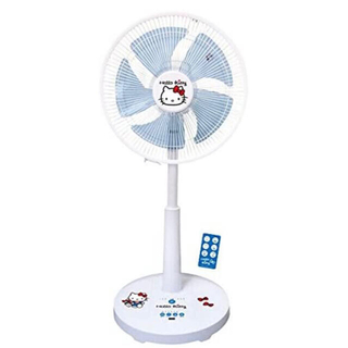 ハローキティ - ハローキティーリビング扇風機 DC扇風機 ブルー