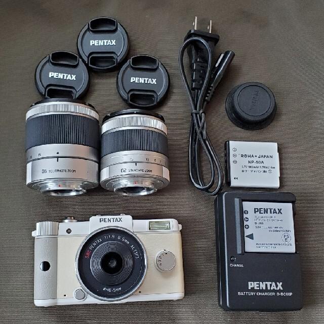 PENTAX(ペンタックス)のPENTAX Q レンズ3種セット ミラーレス一眼 スマホ/家電/カメラのカメラ(ミラーレス一眼)の商品写真