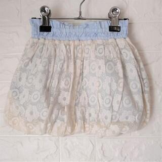 ハッカキッズ(hakka kids)のHAKKA KIDS  透かしフラワー総柄バルーンスカート 110(スカート)