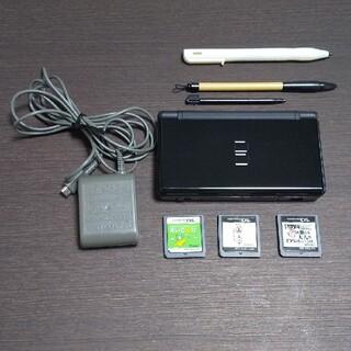 ニンテンドーDS(ニンテンドーDS)のニンテンドーDS lite ブラック本体 ソフト3本(携帯用ゲーム機本体)