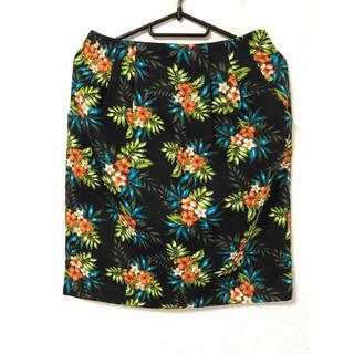 グローブ(grove)のグローブ 花柄 タイトスカート(ひざ丈スカート)