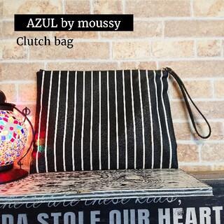 アズールバイマウジー(AZUL by moussy)のAZUL by moussy ★クラッチバッグ【ストライプ】フェイクレザー(クラッチバッグ)
