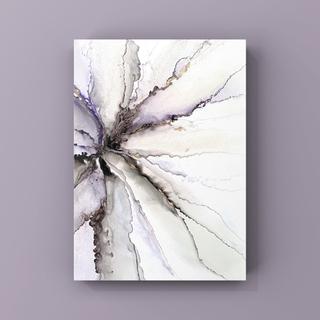 アルコールインクアート インテリアアート アートポスター《purplegray》(アート/写真)