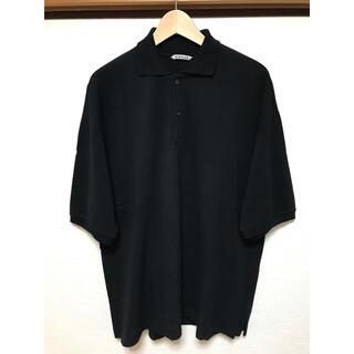 コモリ(COMOLI)のAURALEE ビッグポロ ポロシャツ 黒 4(ポロシャツ)