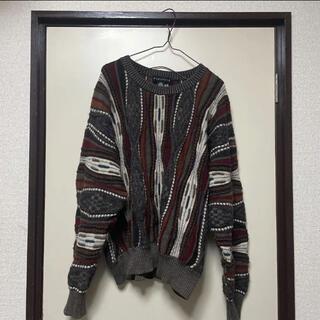 クージー(COOGI)の3Dニット/クージー風ニット 古着 vintage(ニット/セーター)