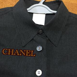 シャネル(CHANEL)のシャネル CHANEL 正規品 グレー シャツ サイズ40(シャツ/ブラウス(長袖/七分))