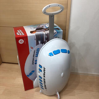 ジャル(ニホンコウクウ)(JAL(日本航空))のJAL飛行機型 キャリーケース 子供おもちゃ入れ 新品(航空機)