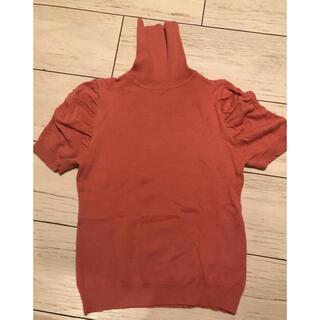 ベルメゾン(ベルメゾン)のベルメゾン タートルネック半袖セーター ピンク(ニット/セーター)