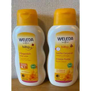 ヴェレダ(WELEDA)のヴェレダ カレンドラ ベビーオイル  無香料 ベビーミルクローション 200ml(ベビーローション)