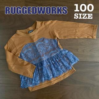 ラゲッドワークス(RUGGEDWORKS)のRUGGEDWORKS 100サイズ ロンT 長袖 レース フリル おしゃれ(Tシャツ/カットソー)