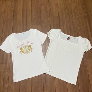 エニィスィス(anySiS)の白トップス Tシャツ(Tシャツ(半袖/袖なし))