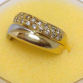 ジュエリーマキ(ジュエリーマキ)のジュエリーマキ k18 pt850 コンビ リング 14号 指輪 ダイヤモンド(リング(指輪))