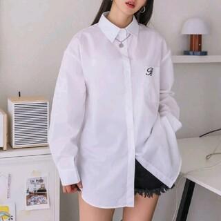 スタイルナンダ(STYLENANDA)のワンポイントシャツ 韓国ファッション(シャツ/ブラウス(長袖/七分))