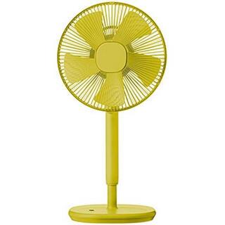 ヤマゼン(山善)の新品未開封 レトロ 扇風機 黄色 リモコン タイマー付き(扇風機)