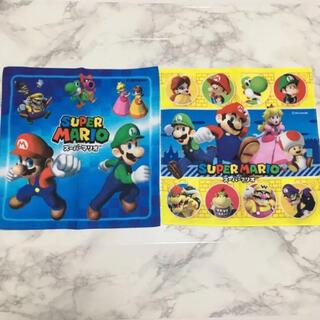 即購入OK!新品未使用!スーパーマリオ ハンカチ 2枚セット(キャラクターグッズ)