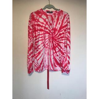 ピースマイナスワン(PEACEMINUSONE)のPeaceminusone 赤タイダイTシャツ(Tシャツ/カットソー(七分/長袖))
