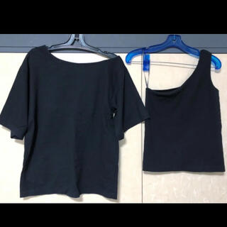 センスオブプレイスバイアーバンリサーチ(SENSE OF PLACE by URBAN RESEARCH)のsense of place URBAN RESERCH カットソー トップス黒(Tシャツ(半袖/袖なし))